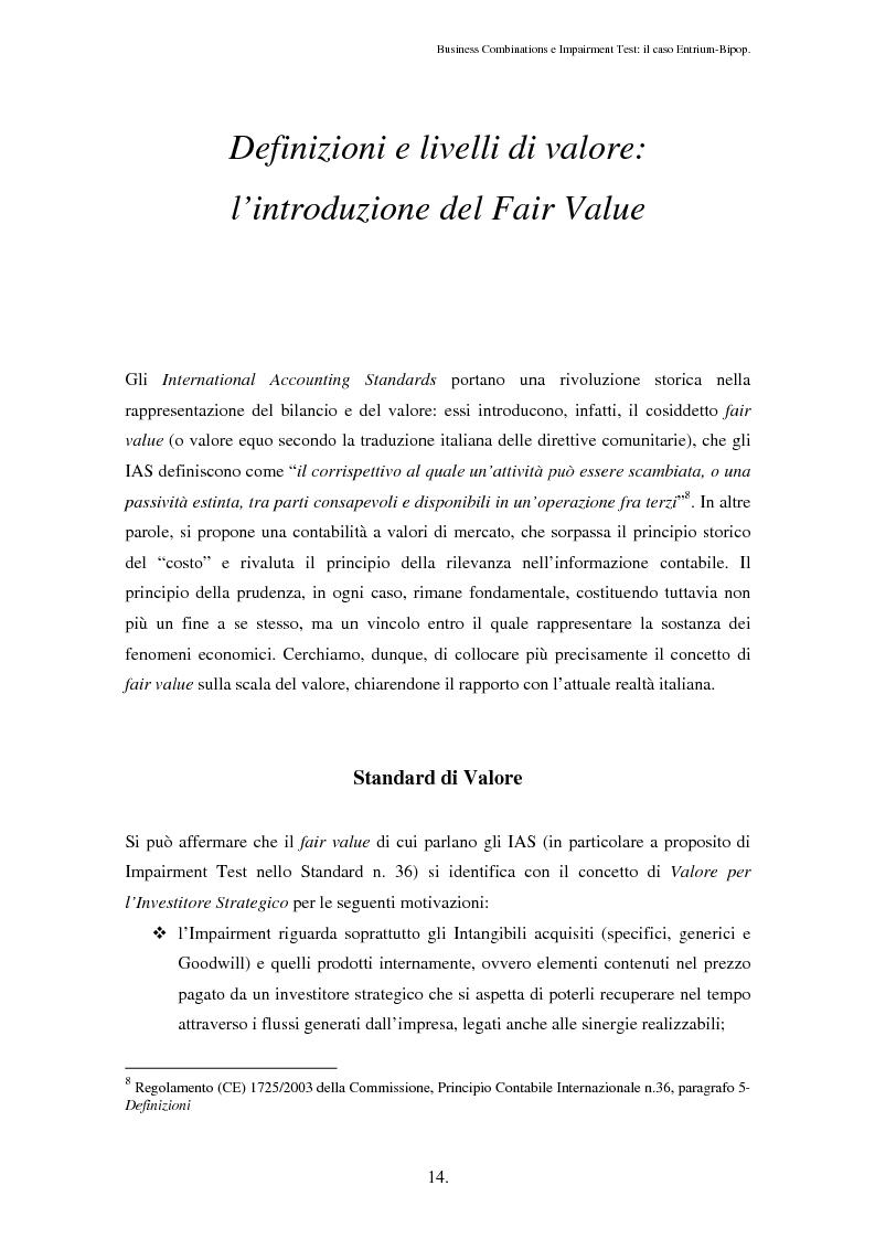 Anteprima della tesi: Business Combinations e Impairment Test: il caso Entrium - Bipop, Pagina 10