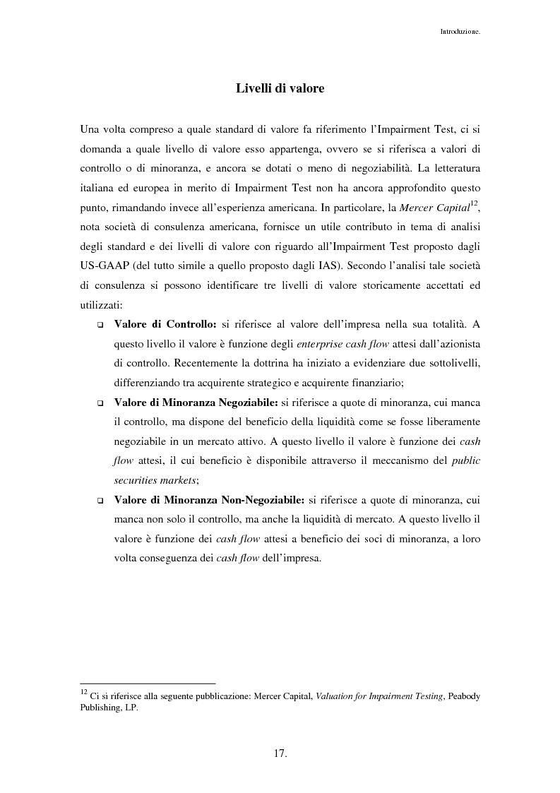 Anteprima della tesi: Business Combinations e Impairment Test: il caso Entrium - Bipop, Pagina 13