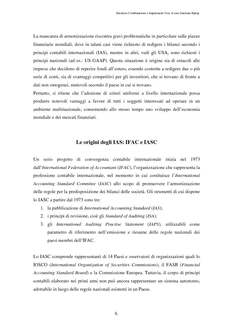 Anteprima della tesi: Business Combinations e Impairment Test: il caso Entrium - Bipop, Pagina 2