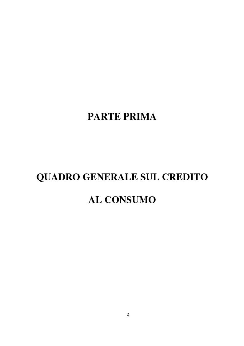 Anteprima della tesi: Credito al consumo: profili economici, regolamentazione e diversificazione del settore, Pagina 6