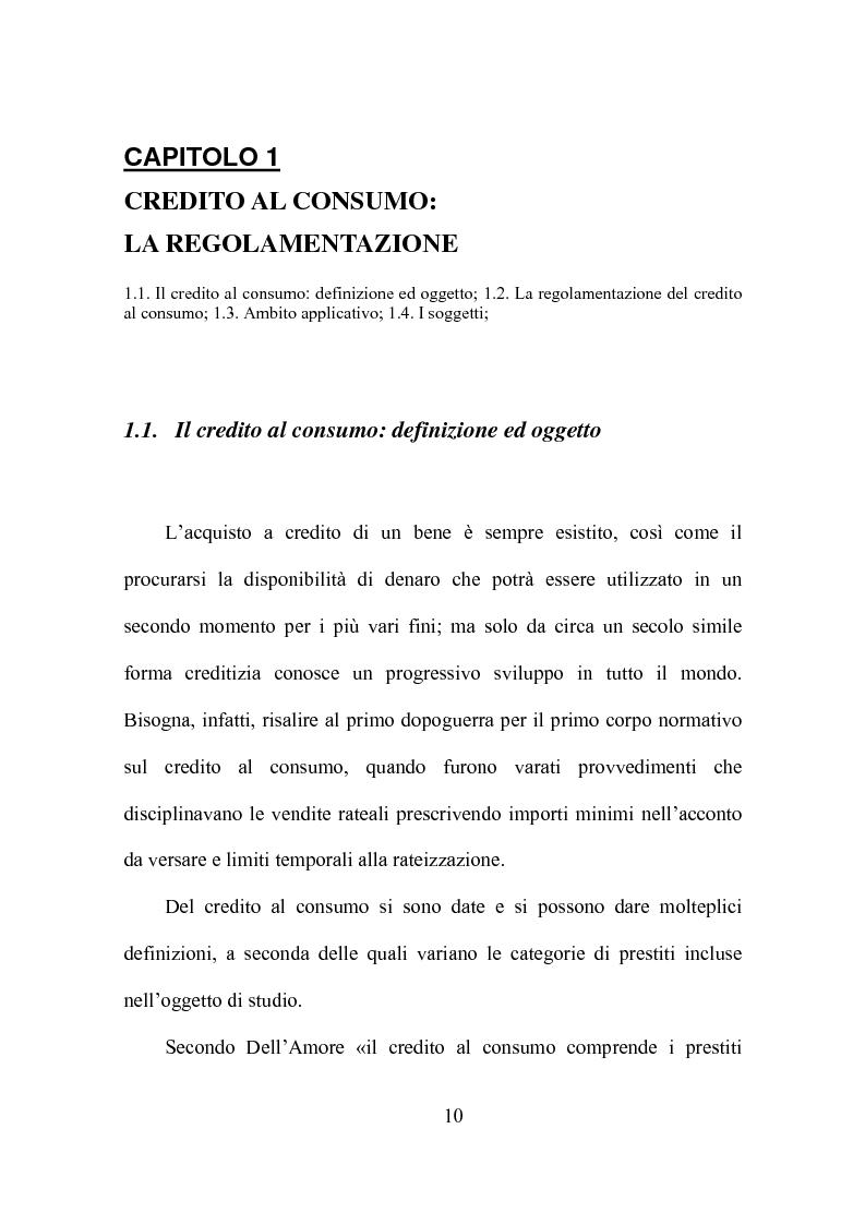Anteprima della tesi: Credito al consumo: profili economici, regolamentazione e diversificazione del settore, Pagina 7
