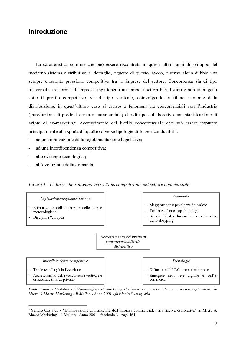 Anteprima della tesi: L'influenza delle attività di marketing in punto vendita sul comportamento di acquisto del consumatore: il caso della distribuzione moderna, Pagina 1