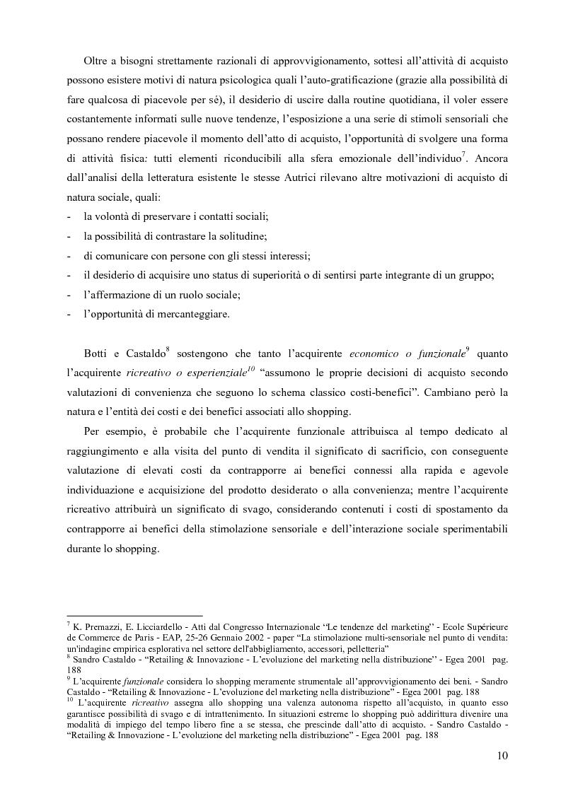 Anteprima della tesi: L'influenza delle attività di marketing in punto vendita sul comportamento di acquisto del consumatore: il caso della distribuzione moderna, Pagina 9