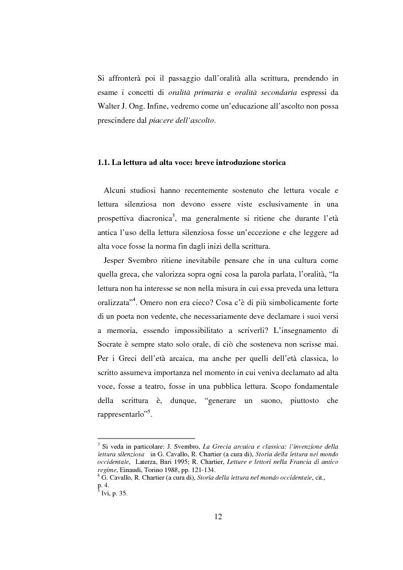 Anteprima della tesi: Quasi come Gian dei Brughi. Valore pegagogico e funzione della lettura ad alta voce nella scuola elementare, Pagina 12
