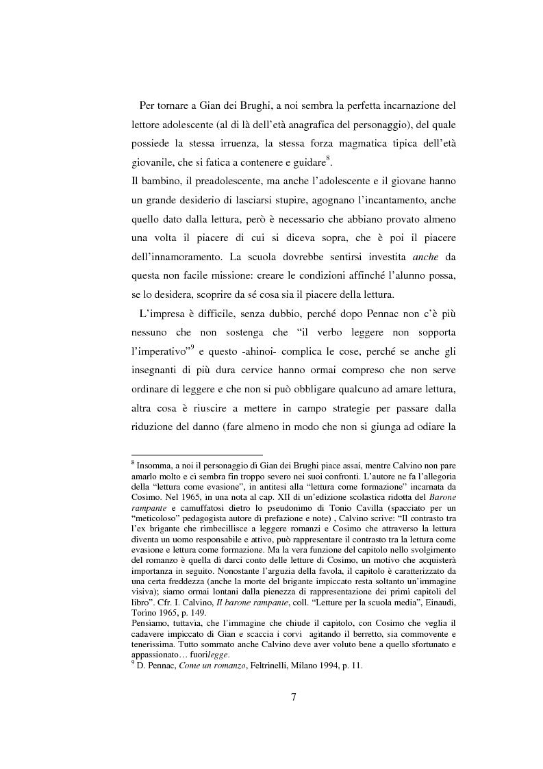 Anteprima della tesi: Quasi come Gian dei Brughi. Valore pegagogico e funzione della lettura ad alta voce nella scuola elementare, Pagina 7