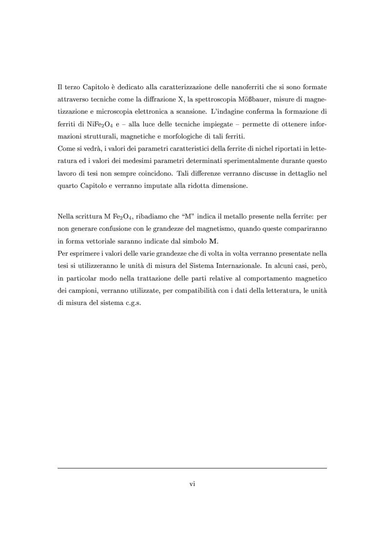 Anteprima della tesi: Proprietà magnetiche e strutturali di nanoferriti NiFe2 O4, Pagina 2