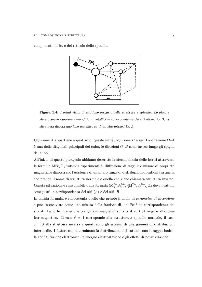 Anteprima della tesi: Proprietà magnetiche e strutturali di nanoferriti NiFe2 O4, Pagina 7