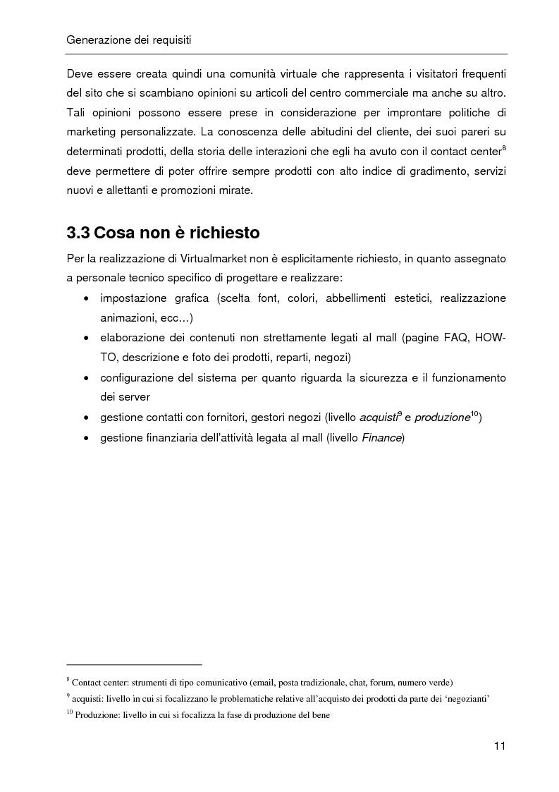 Anteprima della tesi: E-CRM. Progetto e realizzazione di un 'e-mall' orientato al cliente., Pagina 6