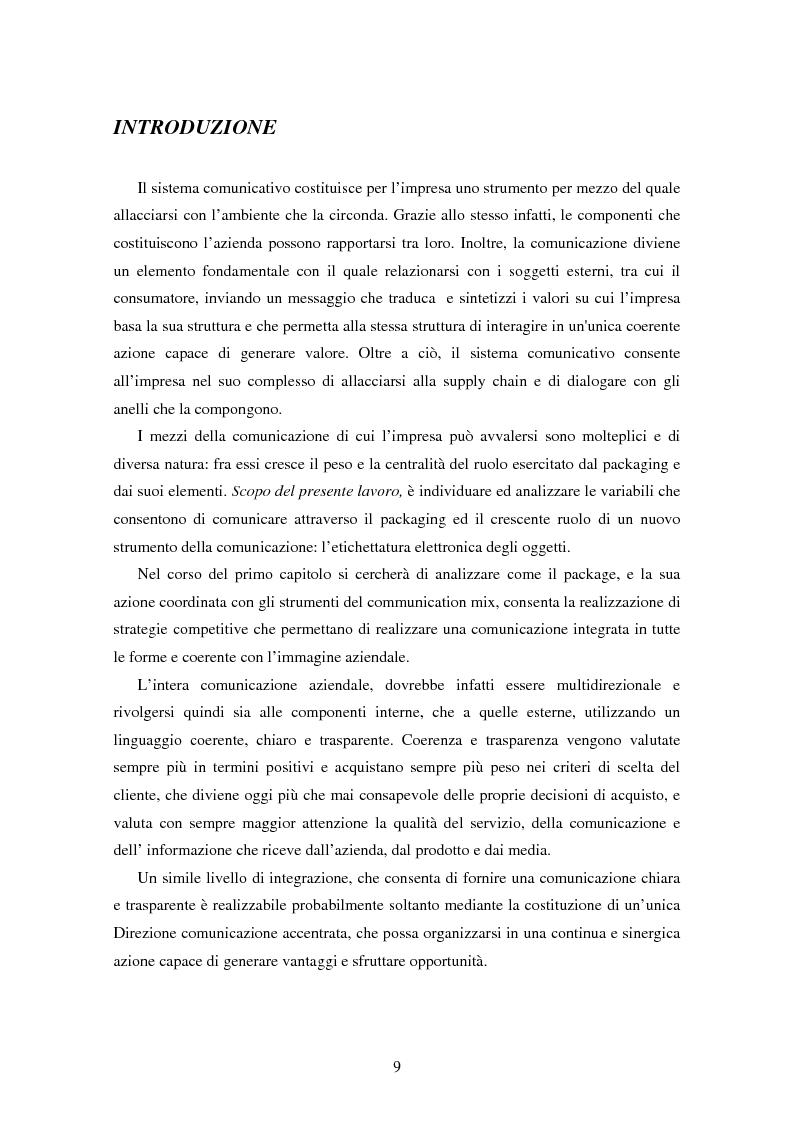 Anteprima della tesi: SMART TAGS - Le etichette elettroniche come strumento di marketing, Pagina 1
