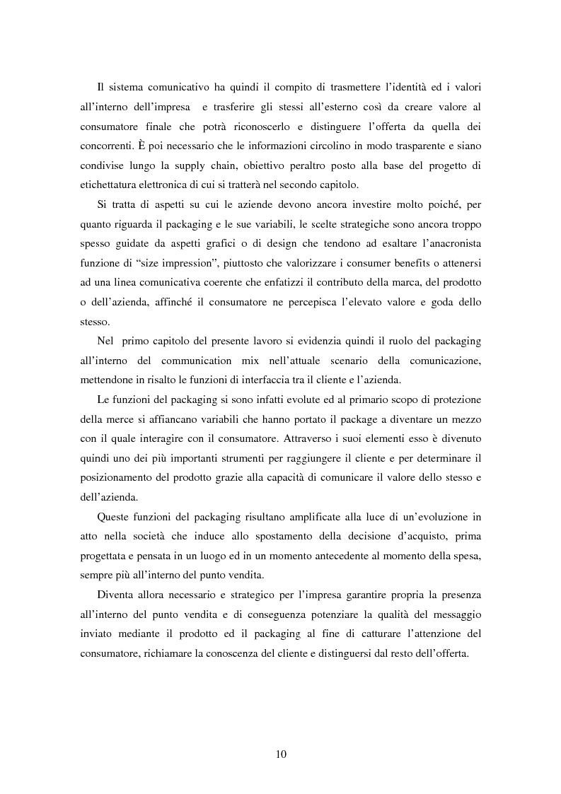 Anteprima della tesi: SMART TAGS - Le etichette elettroniche come strumento di marketing, Pagina 2