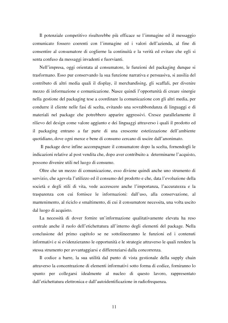 Anteprima della tesi: SMART TAGS - Le etichette elettroniche come strumento di marketing, Pagina 3