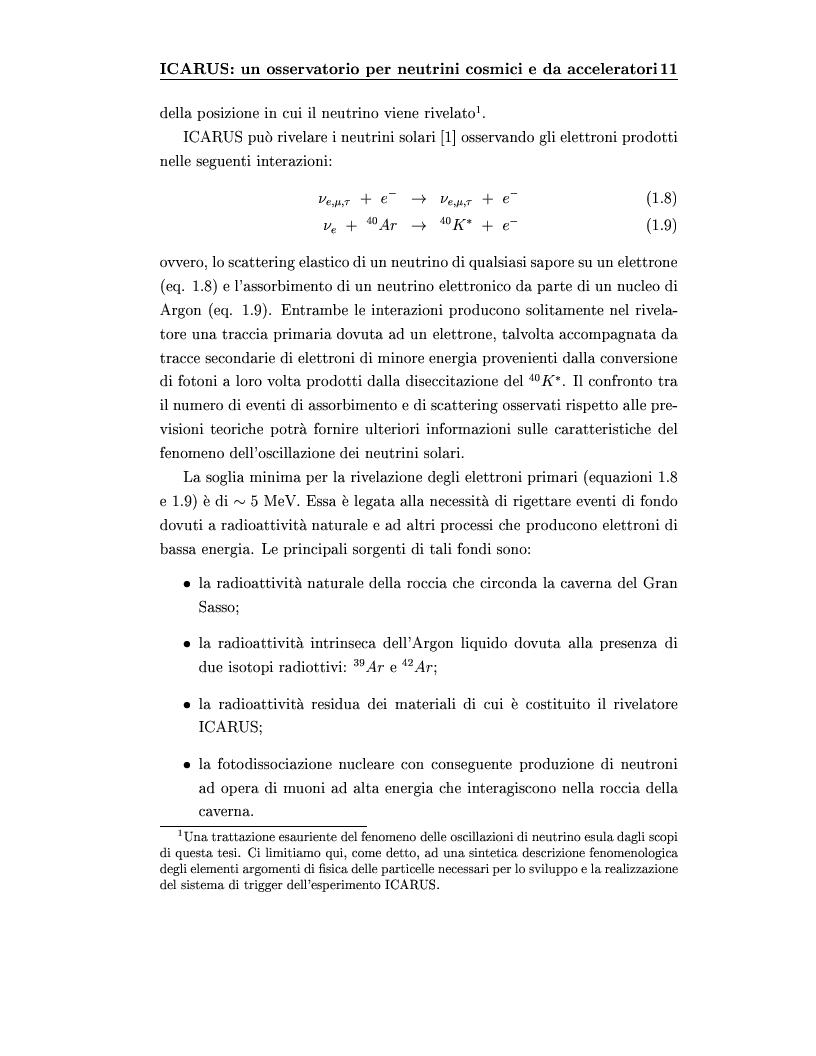 Anteprima della tesi: Disegno del sistema generale di trigger dell'esperimento ICARUS, progettazione e realizzazione della scheda di primo livello, Pagina 11