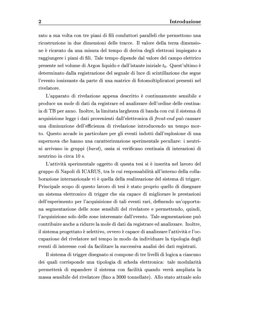 Anteprima della tesi: Disegno del sistema generale di trigger dell'esperimento ICARUS, progettazione e realizzazione della scheda di primo livello, Pagina 2