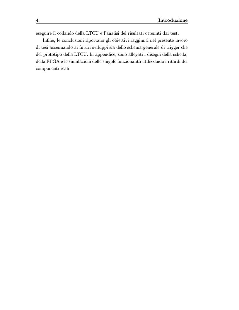 Anteprima della tesi: Disegno del sistema generale di trigger dell'esperimento ICARUS, progettazione e realizzazione della scheda di primo livello, Pagina 4