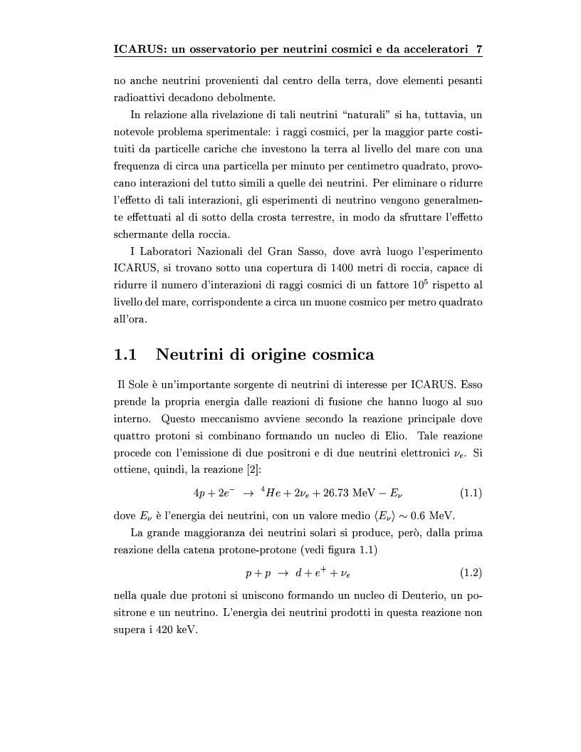 Anteprima della tesi: Disegno del sistema generale di trigger dell'esperimento ICARUS, progettazione e realizzazione della scheda di primo livello, Pagina 7