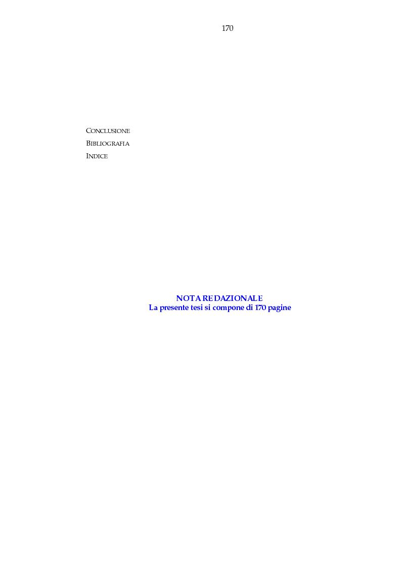 Indice della tesi: Luogo e pensiero del sogno. Itinerario morantiano., Pagina 2