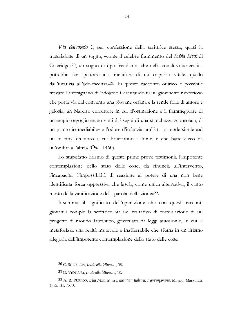 Anteprima della tesi: Luogo e pensiero del sogno. Itinerario morantiano., Pagina 14