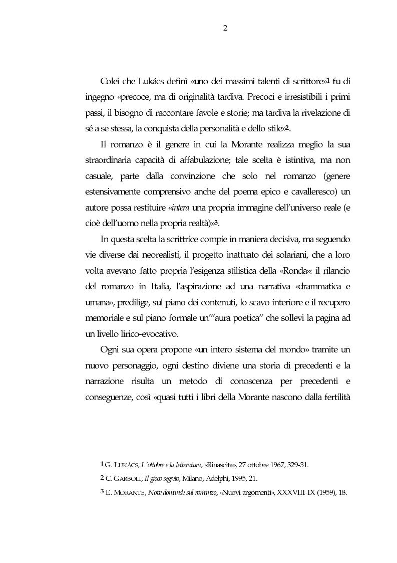 Anteprima della tesi: Luogo e pensiero del sogno. Itinerario morantiano., Pagina 2