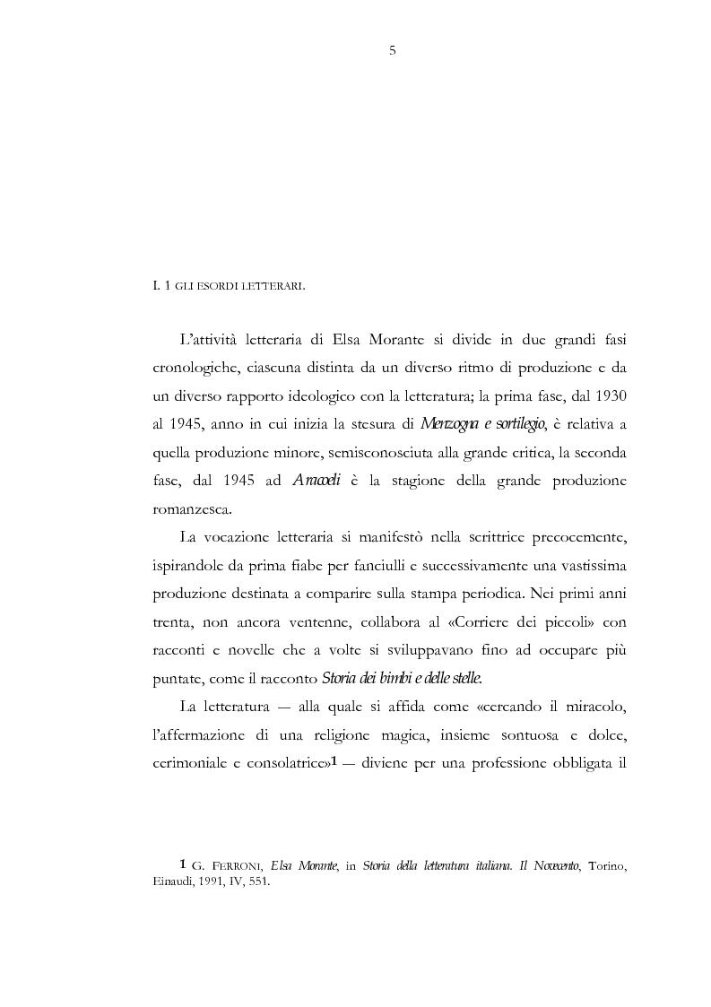 Anteprima della tesi: Luogo e pensiero del sogno. Itinerario morantiano., Pagina 5