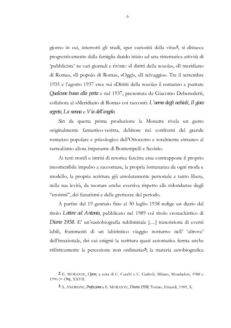 Anteprima della tesi: Luogo e pensiero del sogno. Itinerario morantiano., Pagina 6