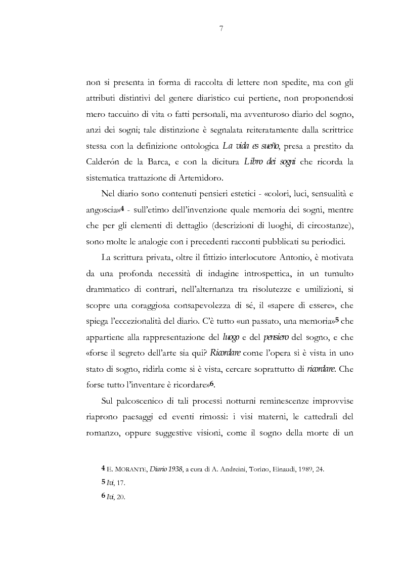 Anteprima della tesi: Luogo e pensiero del sogno. Itinerario morantiano., Pagina 7
