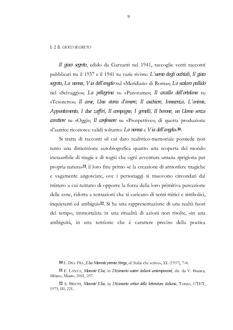 Anteprima della tesi: Luogo e pensiero del sogno. Itinerario morantiano., Pagina 9