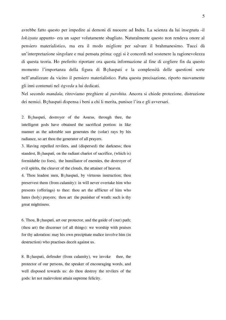 Anteprima della tesi: Il sistema LOKAYATA: analisi delle principali scuole materialistiche indiane, Pagina 5