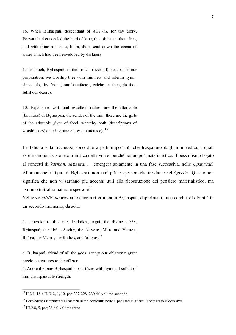 Anteprima della tesi: Il sistema LOKAYATA: analisi delle principali scuole materialistiche indiane, Pagina 7