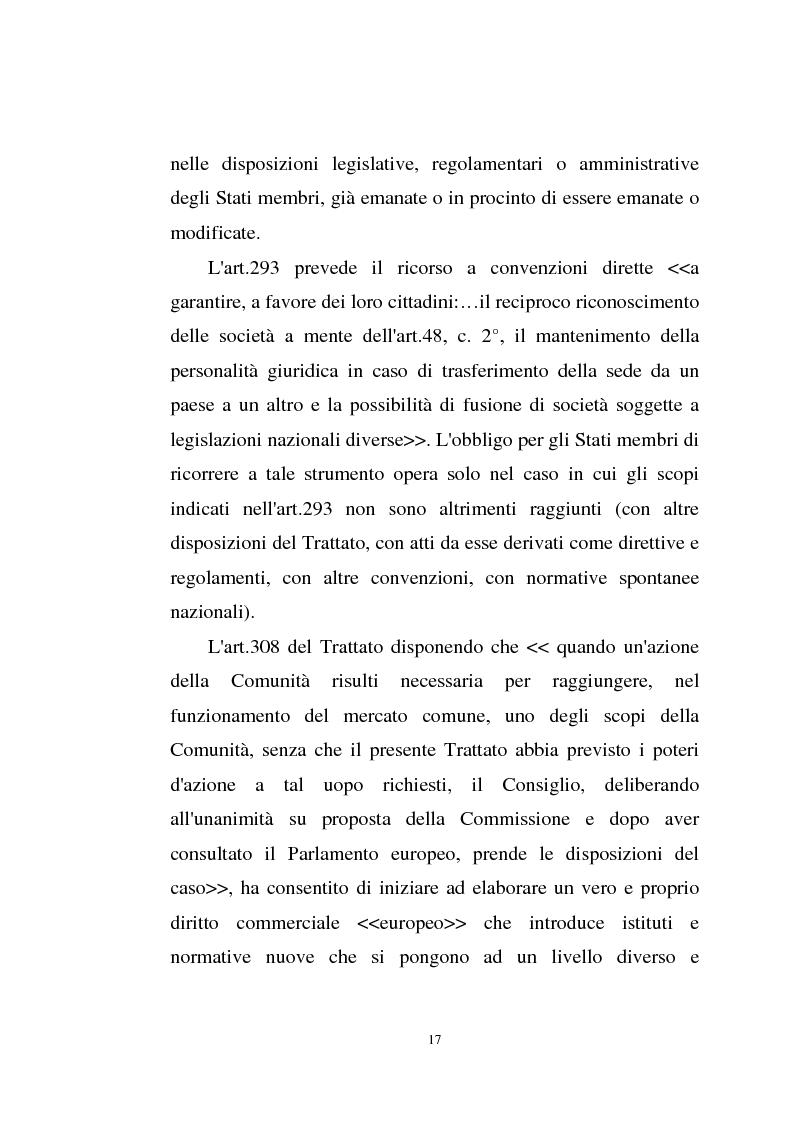 Anteprima della tesi: La disciplina comunitaria sulla '' società per azioni '' europea, Pagina 15