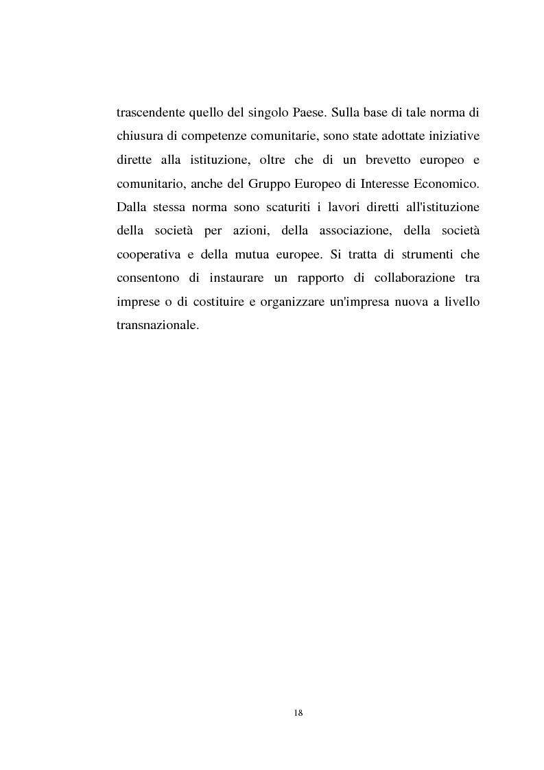Anteprima della tesi: La disciplina comunitaria sulla '' società per azioni '' europea, Pagina 16