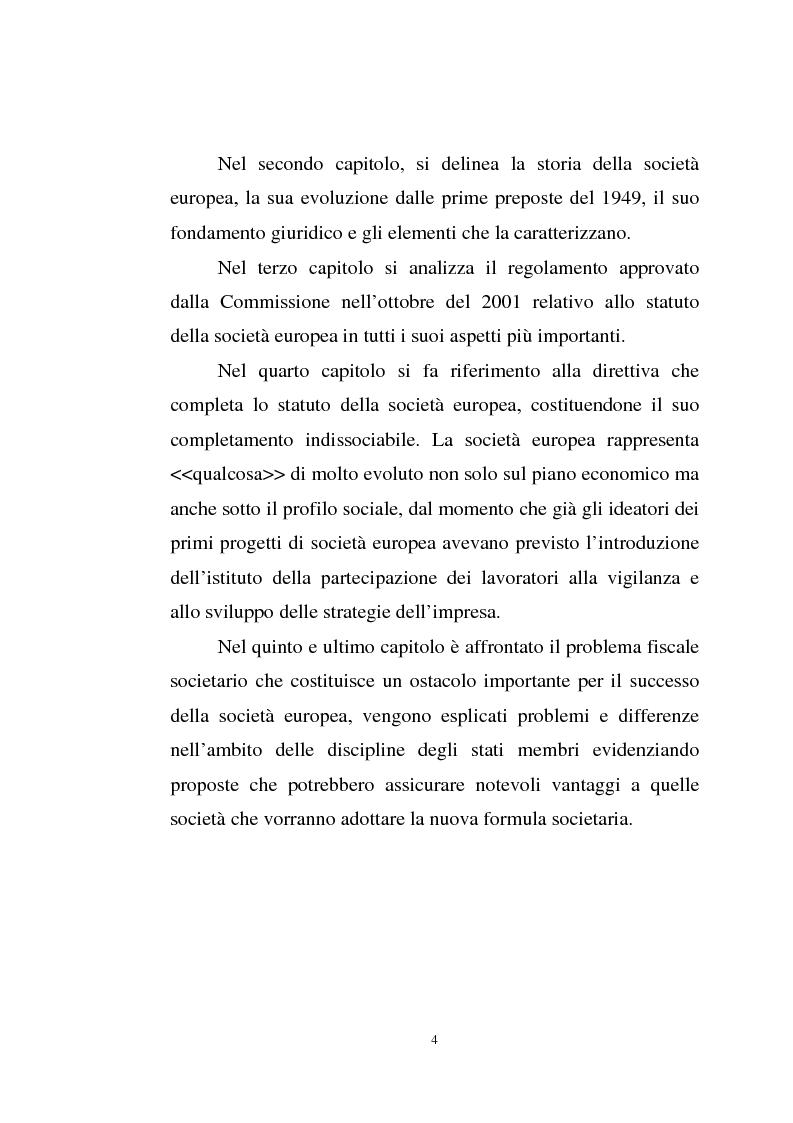 Anteprima della tesi: La disciplina comunitaria sulla '' società per azioni '' europea, Pagina 2