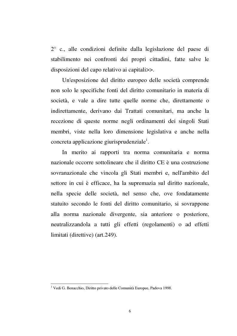 Anteprima della tesi: La disciplina comunitaria sulla '' società per azioni '' europea, Pagina 4