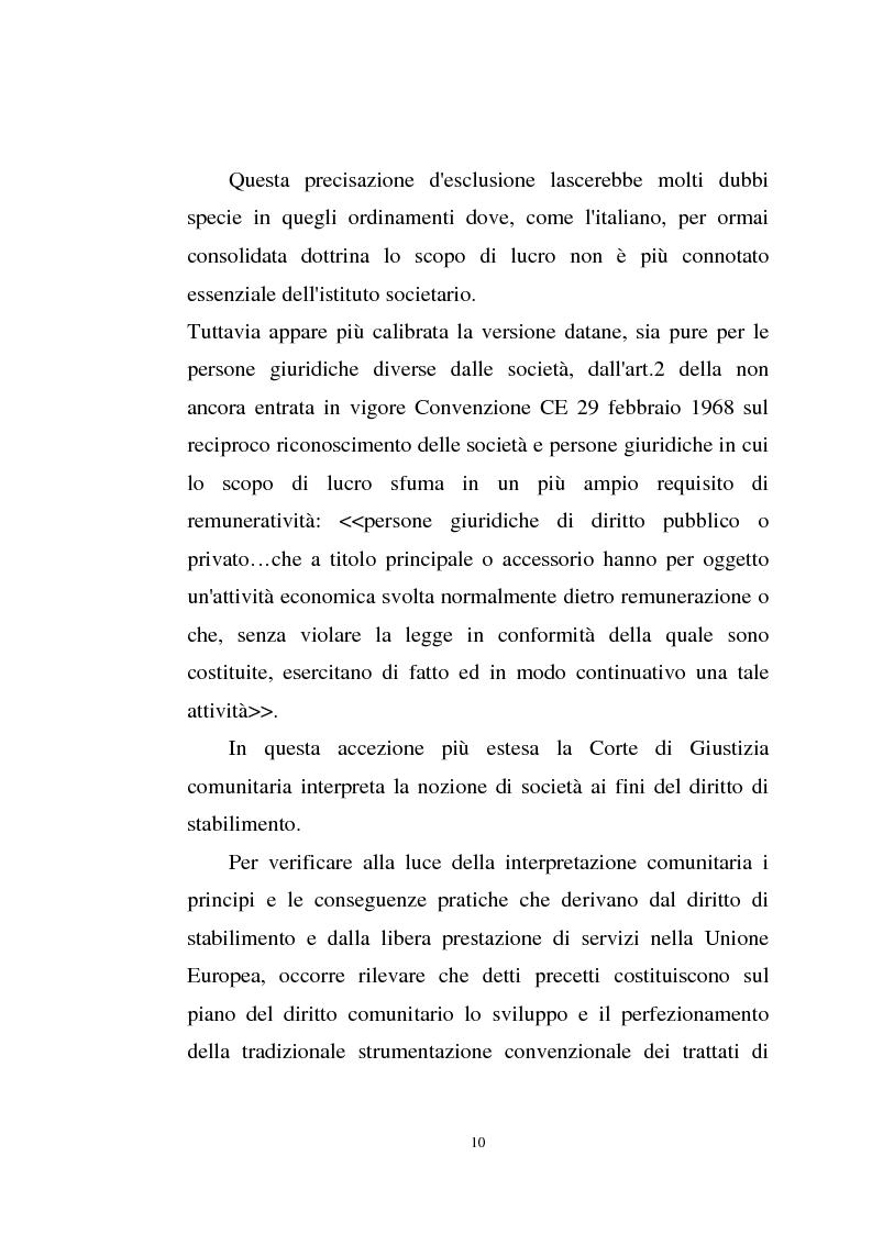 Anteprima della tesi: La disciplina comunitaria sulla '' società per azioni '' europea, Pagina 8