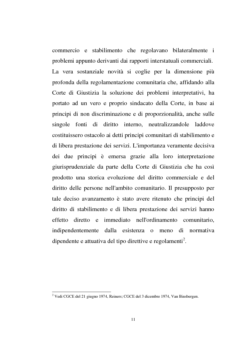 Anteprima della tesi: La disciplina comunitaria sulla '' società per azioni '' europea, Pagina 9
