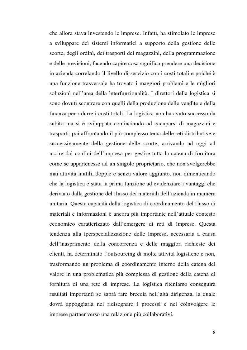 Anteprima della tesi: Modelli per i supermercati on-line: un confronto fra casi italiani ed esteri, Pagina 5