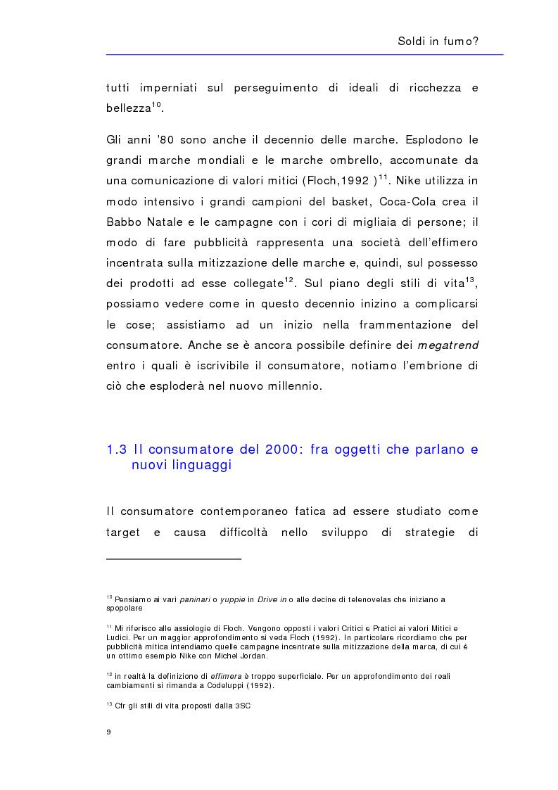 Anteprima della tesi: Soldi in fumo? Imprese e impegno sociale: l'efficacia della comunicazione del cause related marketing relativa ad alcuni casi italiani, Pagina 12