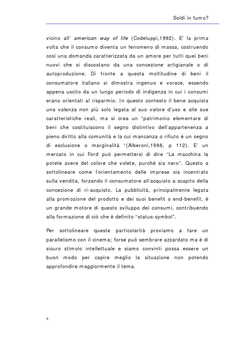 Anteprima della tesi: Soldi in fumo? Imprese e impegno sociale: l'efficacia della comunicazione del cause related marketing relativa ad alcuni casi italiani, Pagina 8