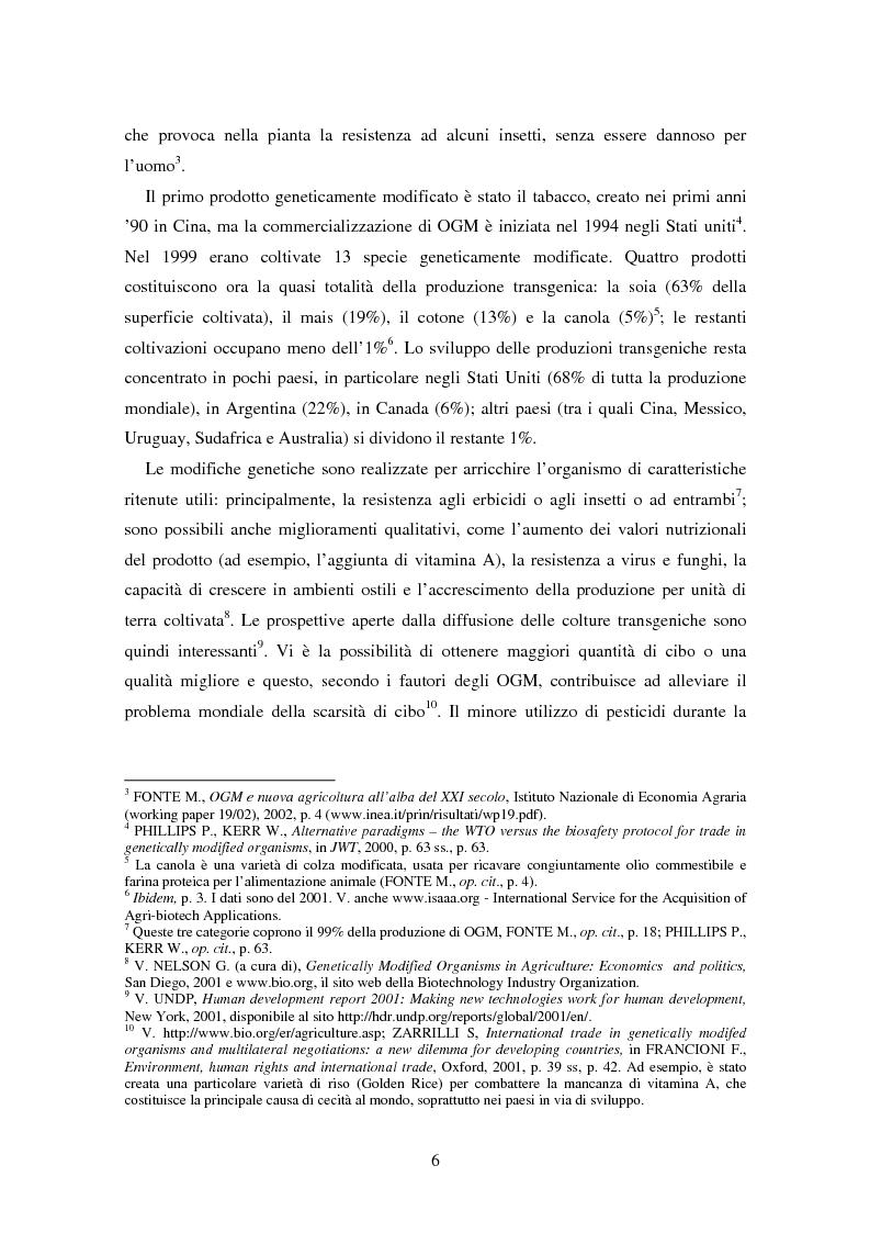 Anteprima della tesi: Movimenti transfrontalieri di organismi geneticamente modificati: protocollo di Cartagena e norme dell'OMC, Pagina 2