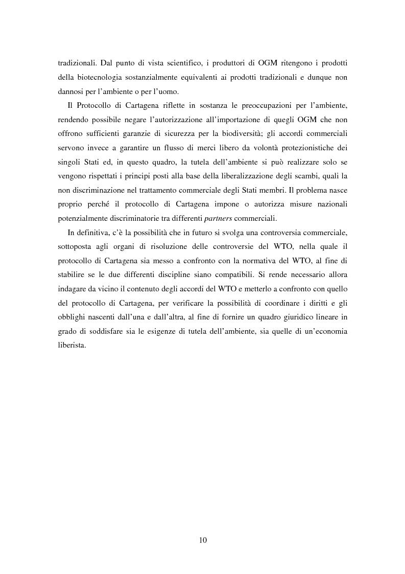 Anteprima della tesi: Movimenti transfrontalieri di organismi geneticamente modificati: protocollo di Cartagena e norme dell'OMC, Pagina 6