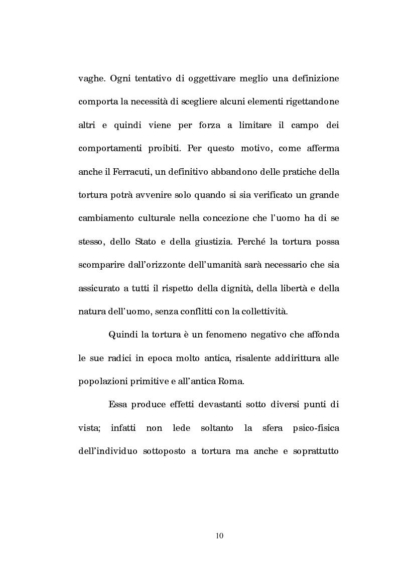 Anteprima della tesi: Analisi criminologica della tortura, Pagina 10