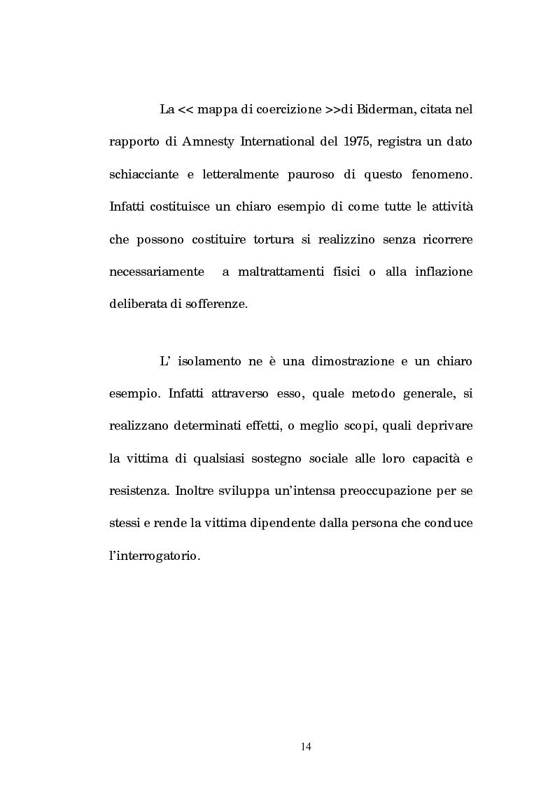 Anteprima della tesi: Analisi criminologica della tortura, Pagina 14