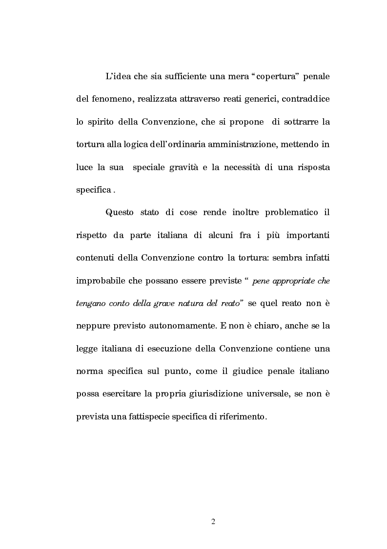 Anteprima della tesi: Analisi criminologica della tortura, Pagina 2
