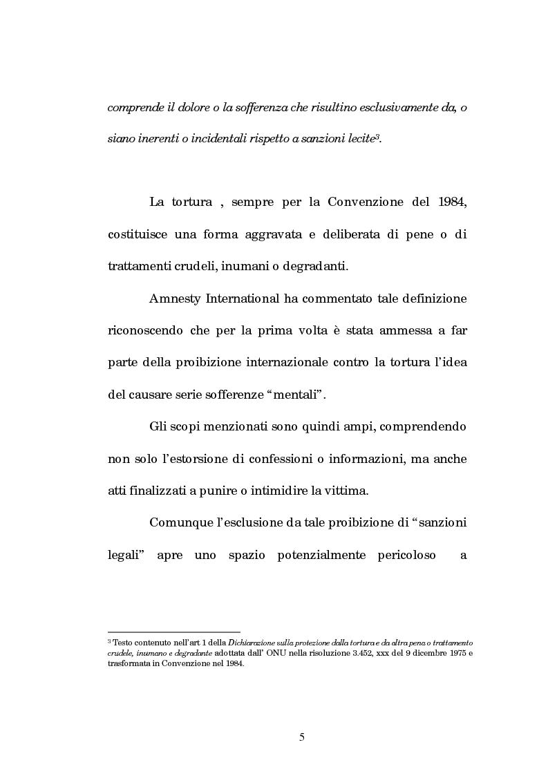 Anteprima della tesi: Analisi criminologica della tortura, Pagina 5