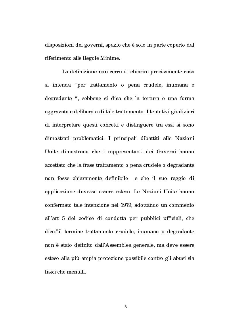 Anteprima della tesi: Analisi criminologica della tortura, Pagina 6