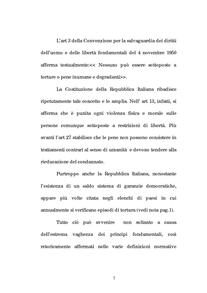 Anteprima della tesi: Analisi criminologica della tortura, Pagina 7
