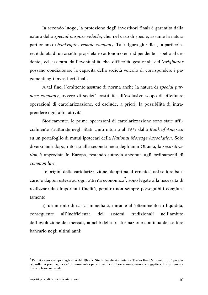 Anteprima della tesi: La cartolarizzazione dei crediti in Italia: il caso della BCC di Castellana Grotte, Pagina 10