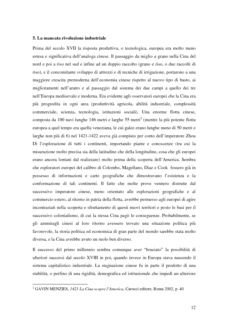 Anteprima della tesi: Storia del commercio della Cina contemporanea e dei mutamenti economici e sociali causati dall'ingresso nell'OMC e nel commercio internazionale, Pagina 10