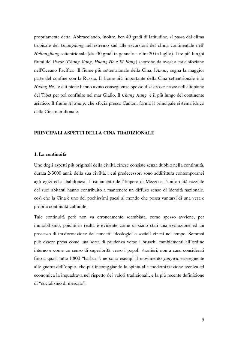 Anteprima della tesi: Storia del commercio della Cina contemporanea e dei mutamenti economici e sociali causati dall'ingresso nell'OMC e nel commercio internazionale, Pagina 3