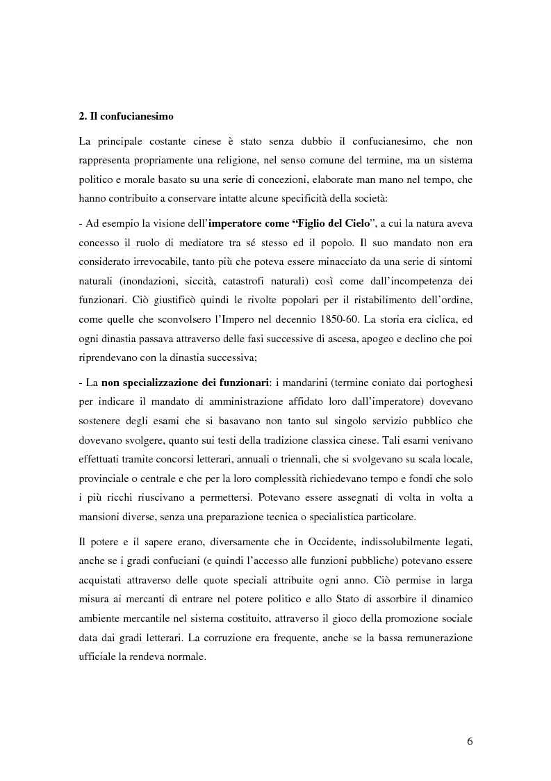 Anteprima della tesi: Storia del commercio della Cina contemporanea e dei mutamenti economici e sociali causati dall'ingresso nell'OMC e nel commercio internazionale, Pagina 4