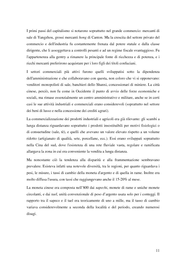 Anteprima della tesi: Storia del commercio della Cina contemporanea e dei mutamenti economici e sociali causati dall'ingresso nell'OMC e nel commercio internazionale, Pagina 9